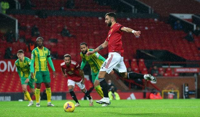 Bruno Fernandes scored the only goal of the game with his retaken penalty