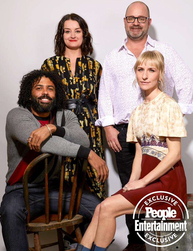 Daveed Diggs, Alison Wright, writer/executive producer Graeme Manson and Mickey Sumner