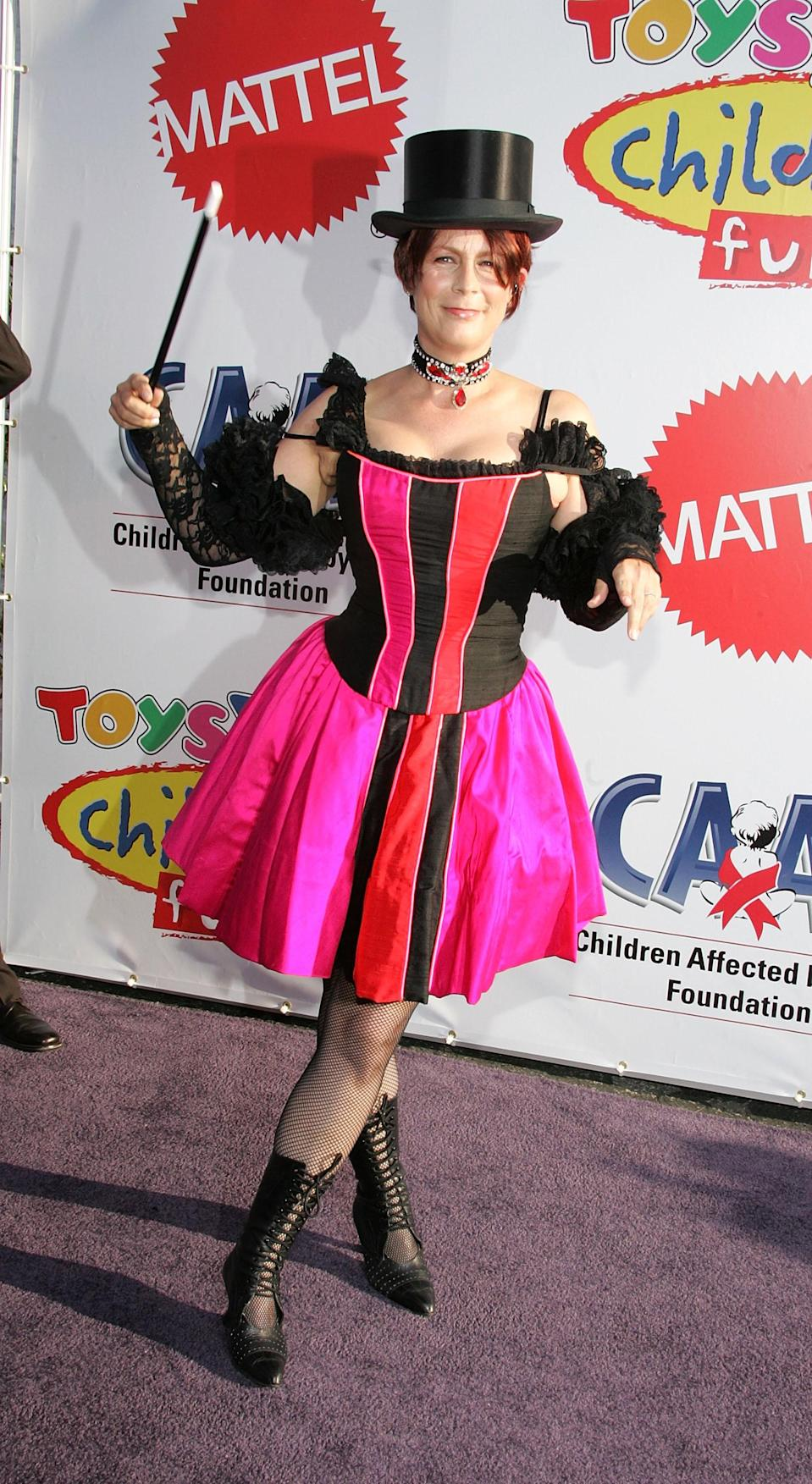 <p>Jamie Lee Curtis attends the 12th Annual Dream Halloween Fundraiser held at Santa Monica Airport October 29, 2005 in Santa Monica, California. (Photo by Frazer Harrison/Getty Images) </p>