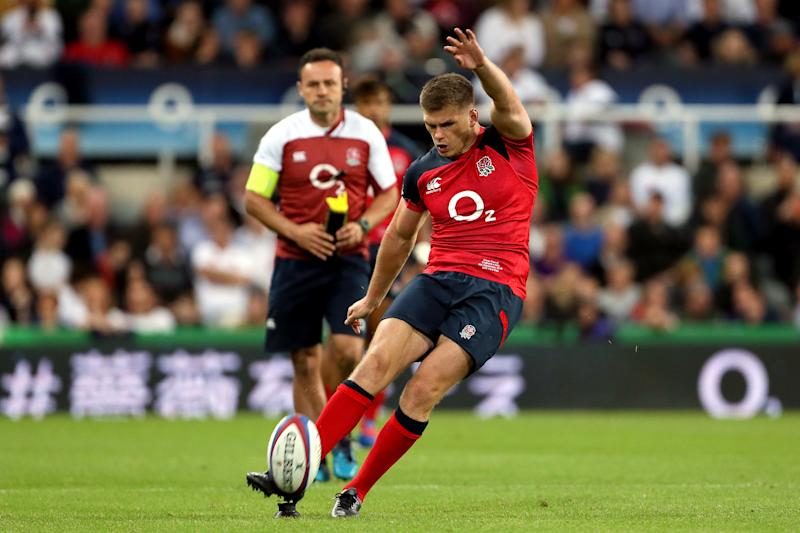 England's Owen Farrell during the International Friendly at St James' Park, Newcastle. (Photo by Richard Sellers/PA Images via Getty Images)