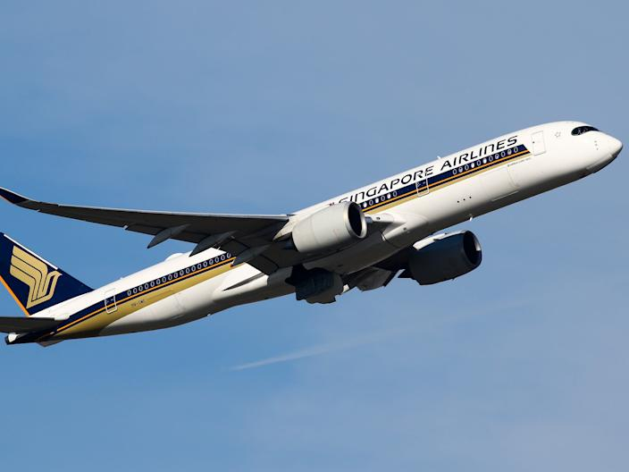 A Singapore Airlines Airbus A350-900 XWB.