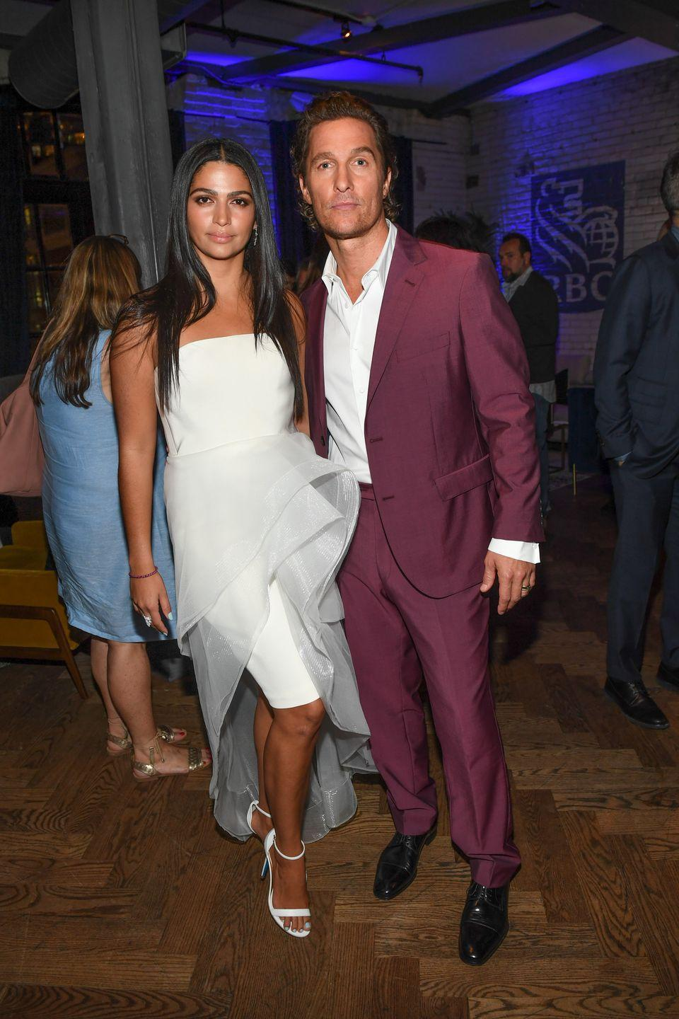 "<p>Matthew McConaughey met model Camila Alves at a Los Angeles nightclub in 2006, when McConaughey was 36 and Alves was 23. While it <a href=""https://www.usmagazine.com/celebrity-news/news/matthew-mcconaughey-my-wife-camila-alves-once-rejected-me-w461418/"" rel=""nofollow noopener"" target=""_blank"" data-ylk=""slk:took some convincing"" class=""link rapid-noclick-resp"">took some convincing</a> to win her over, the two finally started dating and he proposed on Christmas Day in 2011. The couple then married in June 2012. They share three kids together: sons Levi and Livingston and daughter Vida.</p>"