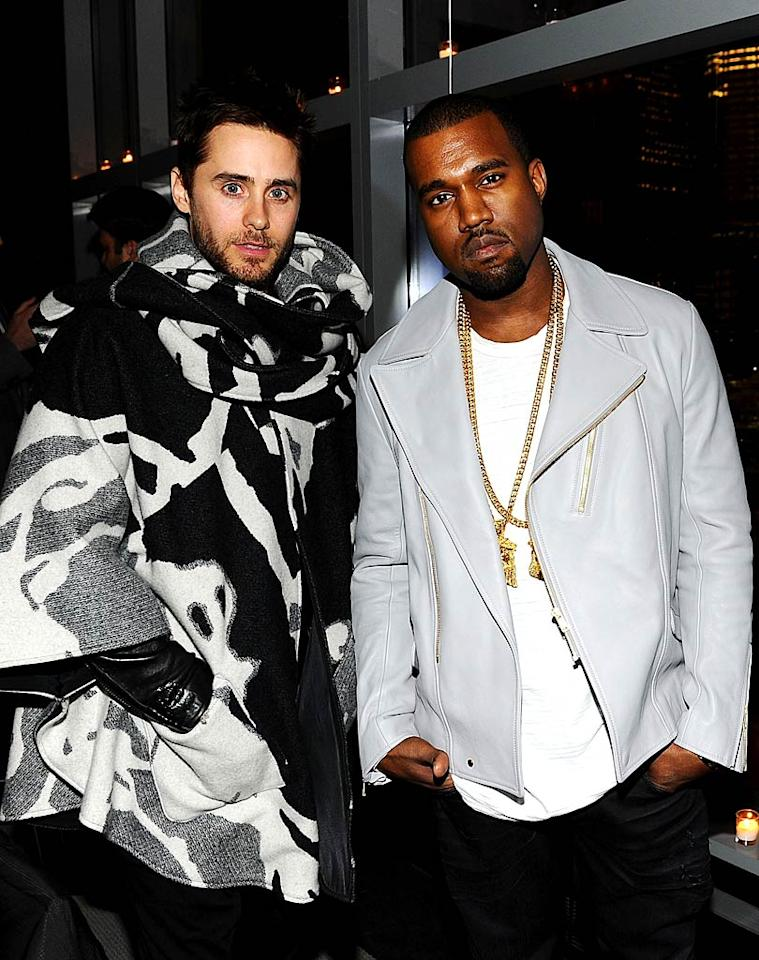 "We're not sure what Jared Leto was thinking when he donned this black-and-white poncho atrocity. Do you think his look is hot ... or not? Jamie McCarthy/<a href=""http://www.wireimage.com"" target=""new"">WireImage.com</a> - February 1, 2011"
