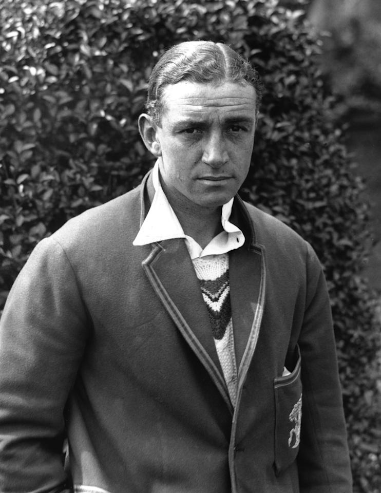 1936:  A PORTRAIT OF WALLY HAMMOND OF THE ENGLAND CRICKET TEAM. Mandatory Credit: Allsport Hulton/Archive