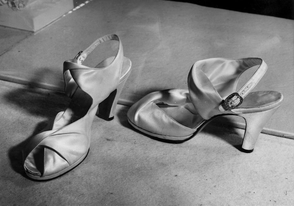 Queen Elizabeth's wedding shoes