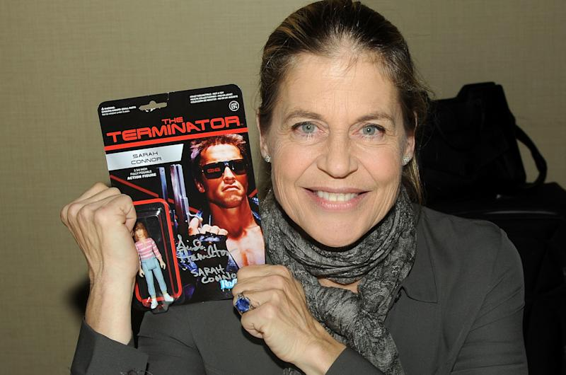 Linda Hamilton at the Chiller Theatre Expo in 2014.