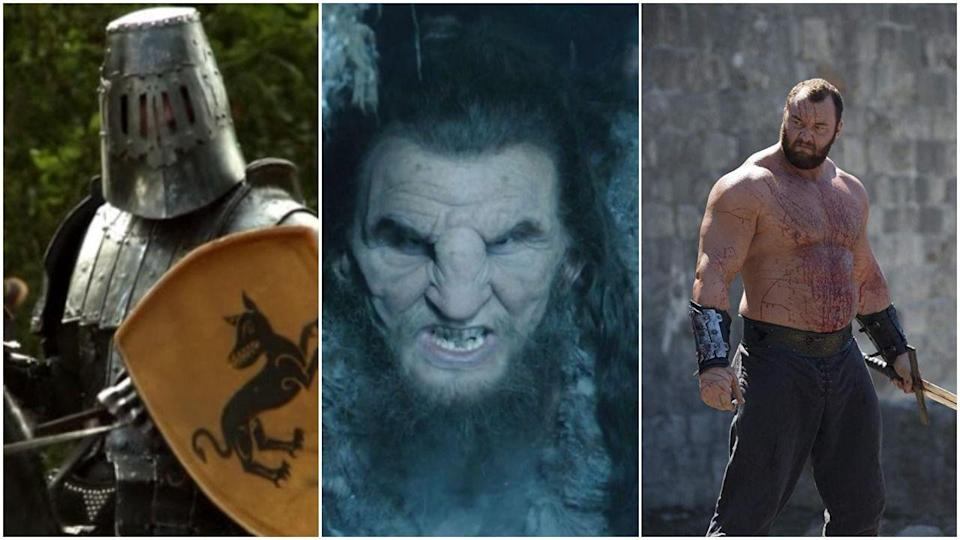 """<p>Literally so sorry to keep doing this to you, but <em>Game of Thrones </em>recast The Mountain not once, not twice, but <a href=""""https://screenrant.com/game-thrones-mountain-actors-recast-twice-why/#:~:targetText=Ian%20Whyte%20(Prometheus)%20took%20over,in%20the%20show's%20debut%20season)."""" rel=""""nofollow noopener"""" target=""""_blank"""" data-ylk=""""slk:THRICE"""" class=""""link rapid-noclick-resp"""">THRICE</a>. He started out being played by actor Conan Stevens, who had scheduling conflicts in season 2 and went on to star in <em>The Hobbi</em><em>t</em>. At this point, Ian Whyte stepped in—also playing a giant Wildling named Dongo. Finally, Icelandic actor Hafþór Júlíus Björnsson took over the role for its most famous iteration in season 4 and got to do memorable scenes like the crushing of Oberyn's skull. Fun!</p>"""