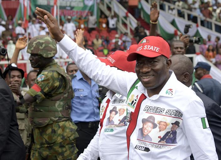 Nigerian President and presidential candidate of the ruling People's Democratic Party Goodluck Jonathan is due to make his first public comments since the decision to delay national polls (AFP Photo/Pius Utomi Ekpei)