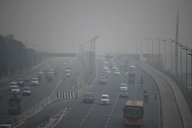 Delhi and other cities across northern India have been blanketed by the poisonous haze that hits each winter because of buildups of vehicle fumes (AFP Photo/Sajjad HUSSAIN)