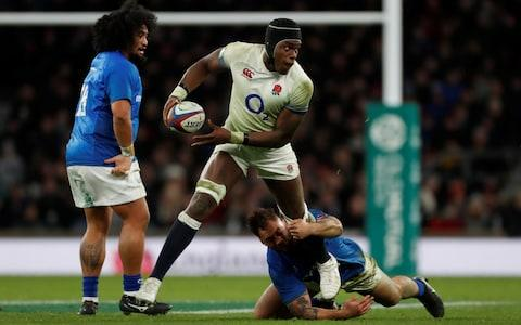 Maro Itoje in action against Italy - Credit: Reuters