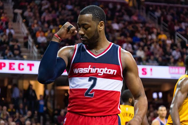 "<a class=""link rapid-noclick-resp"" href=""/nba/players/4716/"" data-ylk=""slk:John Wall"">John Wall</a> has agreed to a long-term extension with the Wizards. (Getty)"