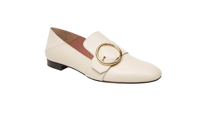 "<p>The timeless investment shoes she will wear forever, but would never splurge on.<br><br>Lottie Women's Calf Leather Slipper in Bone, $650, <a href=""https://www.bally.com/en_us/woman/shoes/flats/lottie-womens-calf-leather-slipper-in-bone-6211702.html#start=1"" rel=""nofollow noopener"" target=""_blank"" data-ylk=""slk:bally.com"" class=""link rapid-noclick-resp"">bally.com</a> </p>"