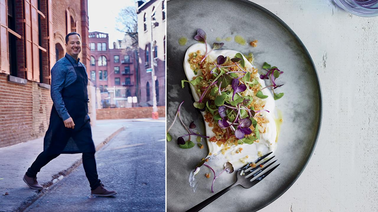 """<p>F&W's 2015 Best New Chef Bryce Shuman employs flavors, techniques and ingredients from all over the world, with a special interest in ancient grains.</p><a rel=""""nofollow"""" href=""""http://www.foodandwine.com/blogs/how-chef-bryce-shuman-transforms-ordinary-sounding-dishes"""">How Chef Bryce Shuman Transforms Ordinary Sounding Dishes</a><a rel=""""nofollow"""" href=""""http://www.foodandwine.com/recipes/quinoa-yogurt-and-sprouts"""">Quinoa with Yogurt and Sprouts</a>"""