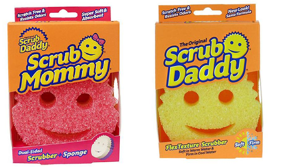 Cult products Sponge Daddy and Sponge Mommy are retailing for $5 from Coles. Photo: Supplied