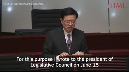 Hong Kong's security minister announced Wednesday the formal withdrawal of the extradition bill that has sparked months of protests in the territory.
