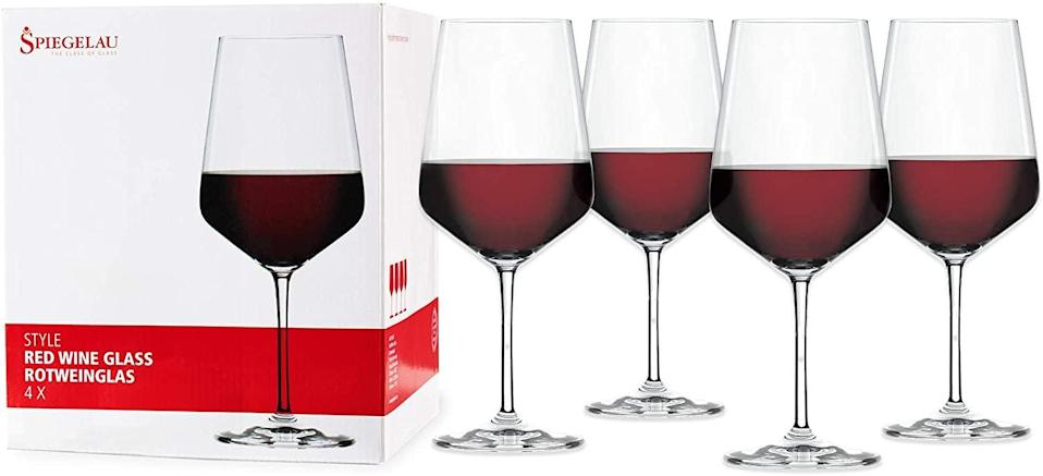 <p>You can never have enough wine glasses, and the <span>Spiegelau Style Set of 4 European-Made Lead-Free Crystal, Classic Stemmed Clear</span> ($40) are sleek.</p>