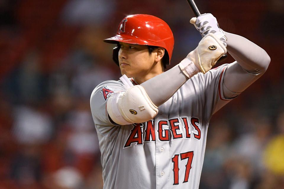 Shohei Ohtani during a game against the Red Sox.
