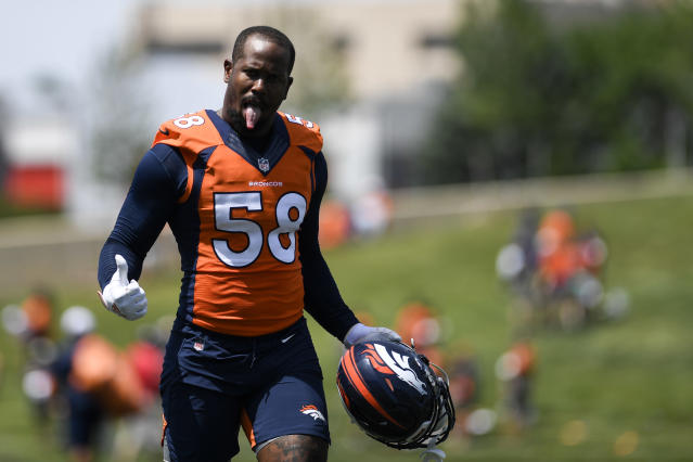 Von Miller had 14.5 sacks last season for the Broncos. (Getty Images)