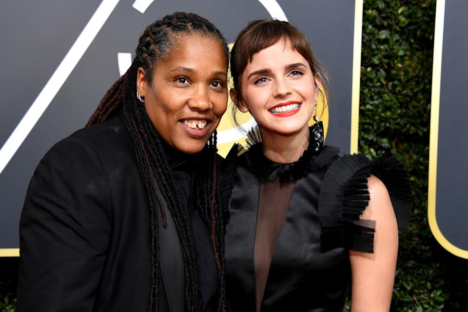 """Marai Larasi, Emma Watson's guest to the Golden Globes, has been involved in activism around ending violence against women, particularly black and minority women, for more than two decades.<br /><br />Larasi is currently the executive director of U.K.-based black feminist group Imkaan, which works to prevent and respond to violence against women and girls through both research and advocacy. Her accomplishments have landed her a spot on the<a href=""""https://www.theguardian.com/careers/world-pride-power-list-2013-11-100"""" target=""""_blank"""">Guardian's World Pride Power List 2013,</a>which celebrates the most influential people in the LGBTQ community.<br /><br />""""If we are to end violence against women and girls, and create a truly equal world, we need to start to create seismic shifts across our social norms,"""" Larasi wrote in a blog for<a href=""""http://www.unwomen.org/en/news/stories/2018/1/in-the-words-of-marai-larasi"""" target=""""_blank"""">UN Women</a>last week.""""This is not just about transforming belief systems andbehavioursin terms of gender; it also means addressing other norms – for example, around ethnicity, classanddisability – all of which contribute to holding other oppressive systems in place."""""""