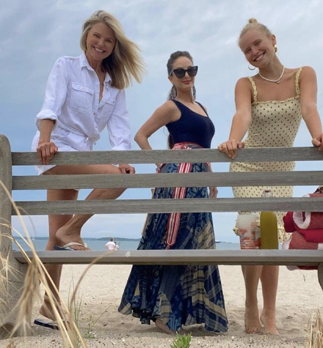 Christie Brinkley with daughters Alexa Joel and Sailor Brinkley-Cook on the beach