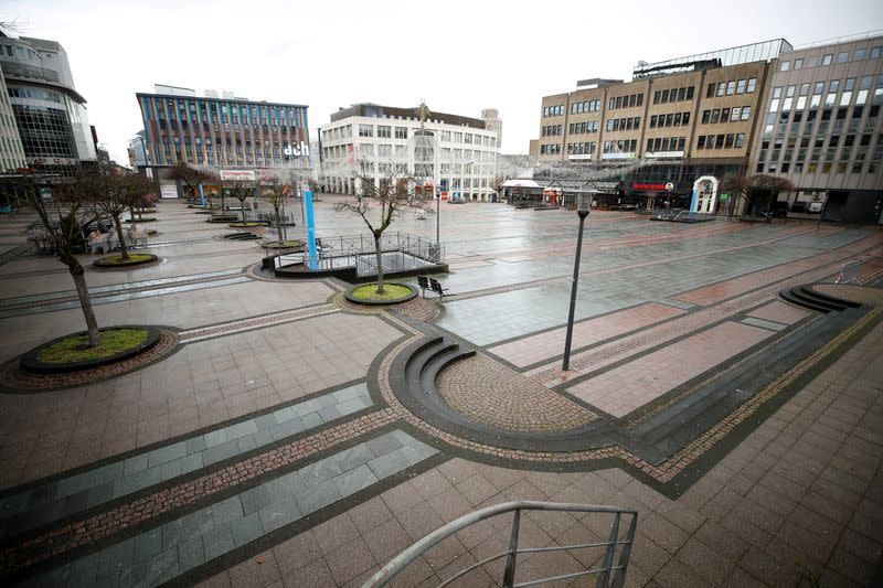 FILE PHOTO: Shops affected by the COVID-19 lockdown in the western German city of Essen