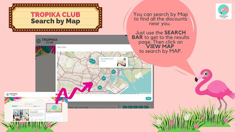 Tropika Club's Map interface. (PHOTO: Tropika Club)