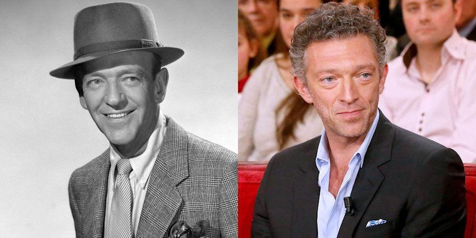 <p>We're not sure if French actor Vincent Cassel has the dance moves of Fred Astaire, but between their strong chin and slight grin, we'd say he's a chip off the ole block. </p>