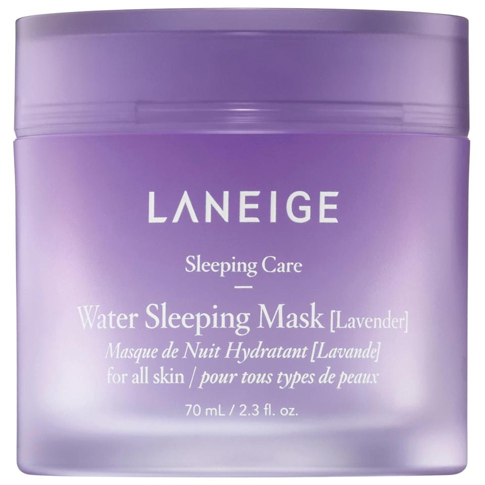 <p>Lavender is know to be a calming scent that induces sleep, so it's no wonder that Laneige infused it into their cult-favorite sleep mask. Add a little self-care to your routine with this hydrating <span>Laneige Lavender Water Sleeping Mask</span> ($25).</p>