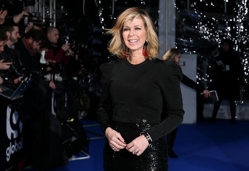 Kate Garraway attends The Global Awards, a brand new awards show hosted by Global, the Media & Entertainment group, at London's Eventim Apollo Hammersmith. PRESS ASSOCIATION Photo. Picture date: Thursday March 1, 2018. See PA story SHOWBIZ Global. Photo credit should read: Joel Ryan/PA Wire (Photo by Joel Ryan/PA Images via Getty Images)