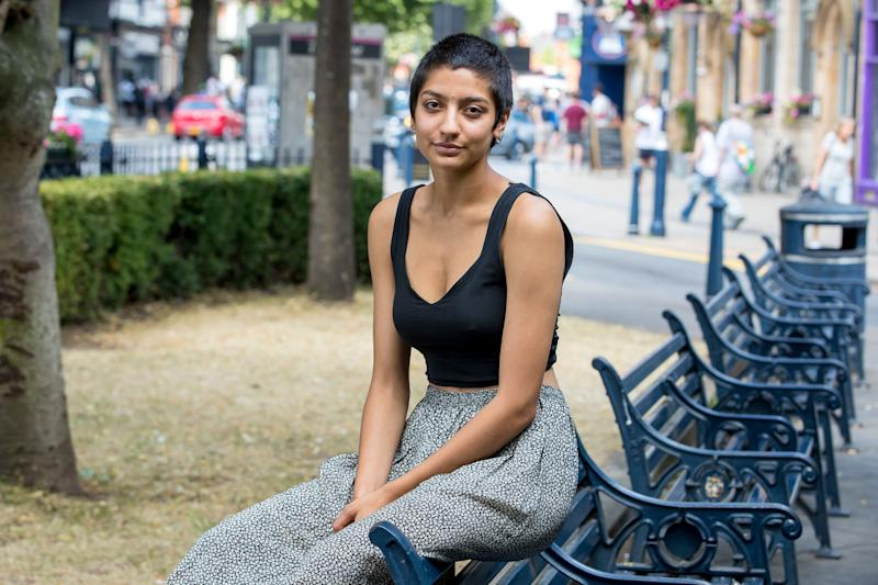<strong>Saffiyah Khan, 15 months after a photo of her standing up to the EDL went viral</strong> (Photo: JONATHAN HIPKISS/EXPOSURE PHOTOS)