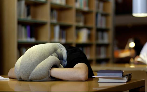 Power Nap With This Head-Consuming Ostrich Pillow
