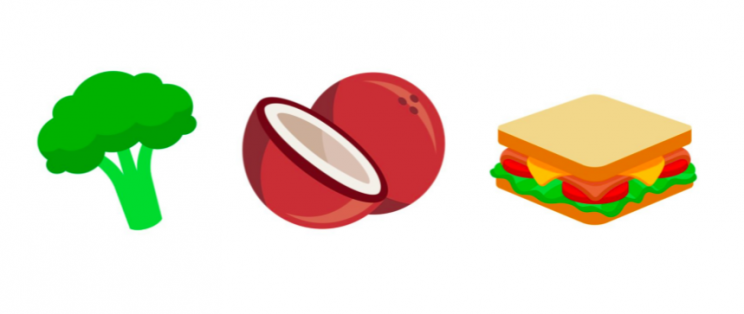 Foods are well represented [Photo: Emojipedia]