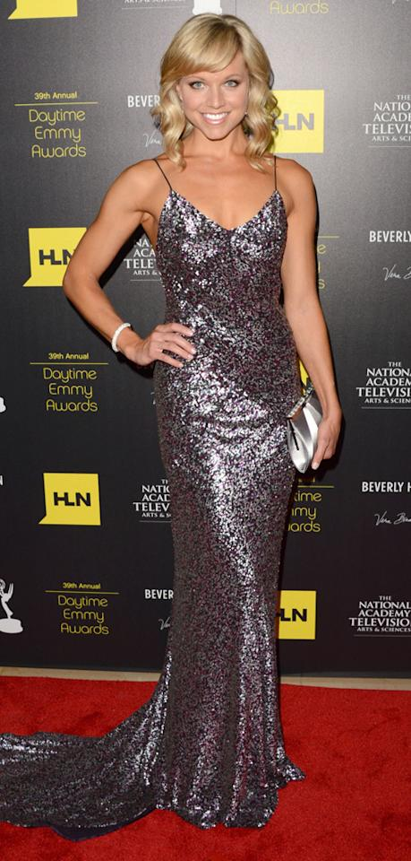 Tiffany Coyne arrives at The 39th Annual Daytime Emmy Awards held at The Beverly Hilton Hotel on June 23, 2012 in Beverly Hills, California.