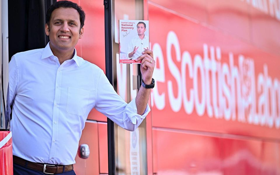 GREENOCK, SCOTLAND - APRIL 22: Scottish Labour Party leader Anas Sarwar poses for pictures following the launch of his manifesto for the Scottish Parliament election at Custom House Quay on April 22, 2021 in Greenock, Scotland. Mr Sarwar said in his address that voting Scottish Labour will deliver a parliament focused on 'solutions, not divisions', and revealed that the party will commit to dramatically increasing affordable childcare. - Jeff J Mitchell/Getty Images