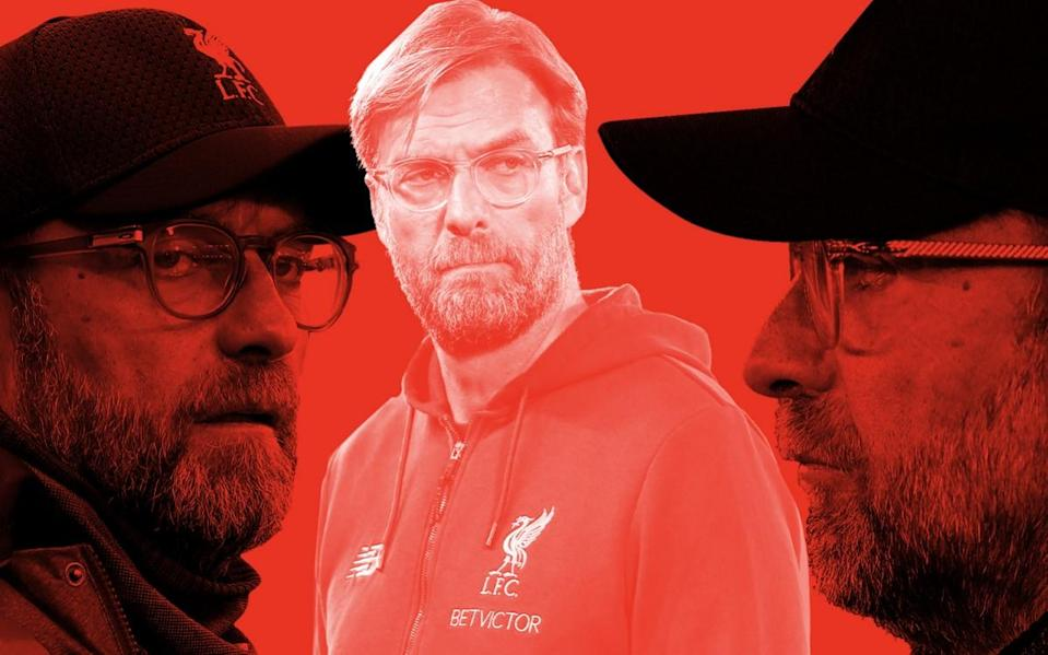 A composite image of Liverpool manager Jurgen Klopp