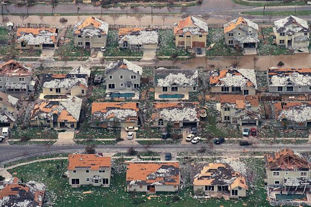 <p>This Aug. 25, 1992 file photo shows rows of damaged houses between Homestead and Florida City, Fla. Two decades after Andrew devastated the area, Homestead and Florida City have doubled in size into a demographically different community, better prepared to deal with hurricanes. (AP Photo/Mark Foley, File) </p>
