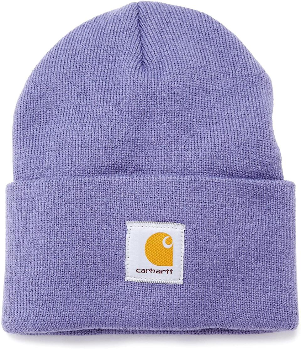 """<h3>Carhartt Beanie</h3><br>A rolled-up Carhartt beanie is a classic and welcomed holiday stocking surprise. <br><br><strong>Carhartt</strong> Acrylic Watch Hat A18, $, available at <a href=""""https://amzn.to/2VrjfFM"""" rel=""""nofollow noopener"""" target=""""_blank"""" data-ylk=""""slk:Amazon"""" class=""""link rapid-noclick-resp"""">Amazon</a>"""