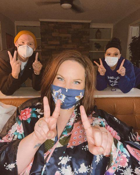 """<p>""""Bringing in the new year just how I'd like to spend it — in my house, in my robe, with my friends, minding Covid guidelines (we're ending our celebration at 9:45 because we have a 10pm curfew),"""" the <em>My Big Fat Fabulous Life </em>star <a href=""""https://www.instagram.com/p/CJe6rzGM6ap/"""" rel=""""nofollow noopener"""" target=""""_blank"""" data-ylk=""""slk:shared of her New Year's Eve"""" class=""""link rapid-noclick-resp"""">shared of her New Year's Eve</a>. </p> <p>""""Happy New Year, y'all! I hope 2021 is good to you. 🖤,"""" she wrote. </p>"""