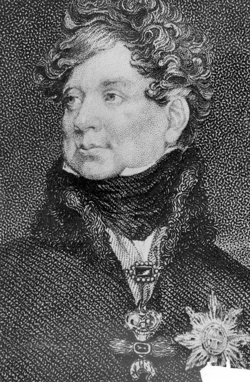 "FILE - An undated file photo of an illustration of King George IV of England. In choosing to call their first child George Alexander Louis, on Wednesday, July 24, 2013, Prince William and his wife, Kate, selected a first name steeped in British history. While ""George"" means farmer and earth worker _ not trades typically associated with British royals _ it has been borne by six kings. (AP Photo, File)"