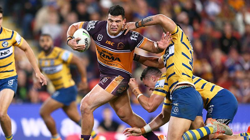 Pictured here, David Fifita in action for the Broncos.