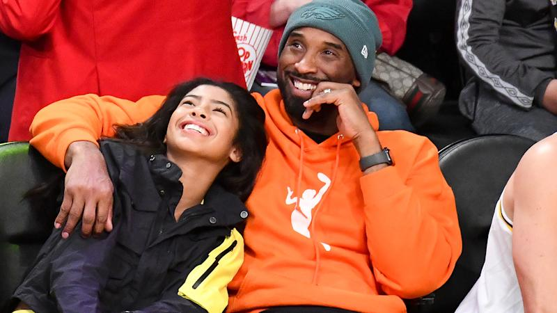 Kobe and Gianna Bryant, pictured here at a Los Angeles Lakers game in 2019.
