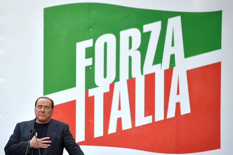 Berlusconi's Forza Italia party is leading the race for the March vote as part of a rightwing coalition (AFP Photo/GABRIEL BOUYS)