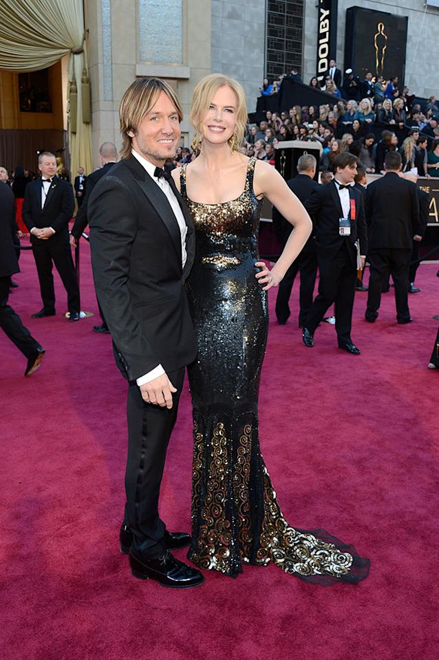 Nicole Kidman and Keith Urban arrive at the Oscars in Hollywood, California, on February 24, 2013.