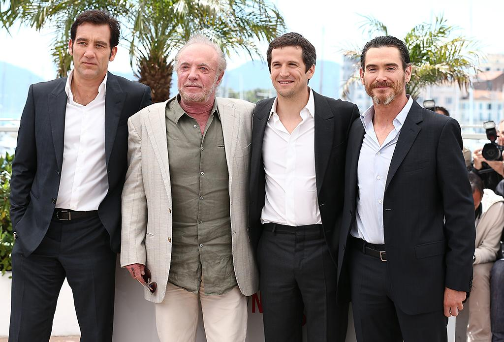 CANNES, FRANCE - MAY 20:  (L-R) Actor Clive Owen, actor James Caan, director Guillaume Canet and actor Billy Crudup attends the photocall for 'Blood Ties' at The 66th Annual Cannes Film Festival on May 20, 2013 in Cannes, France.  (Photo by Andreas Rentz/Getty Images)