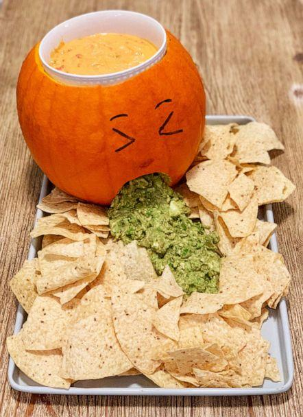PHOTO: I made Pinterest's top 10 Halloween recipes of 2019, which included jack-o-lantern chips and dips. (ABC News)