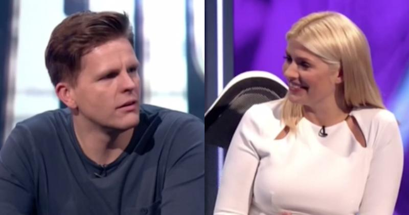 Holly Willoughby's history with Jake Humphrey was uncovered on Tuesday's episode of Play to the Whistle (Copyright: ITV)