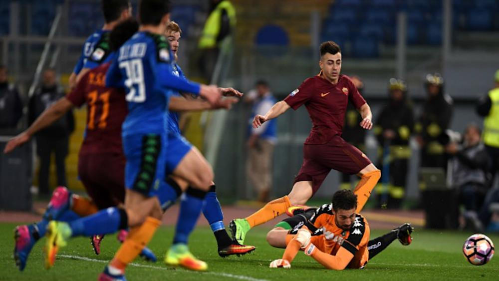 El Shaarawy Mohamed Salah Roma Sassuolo Serie A