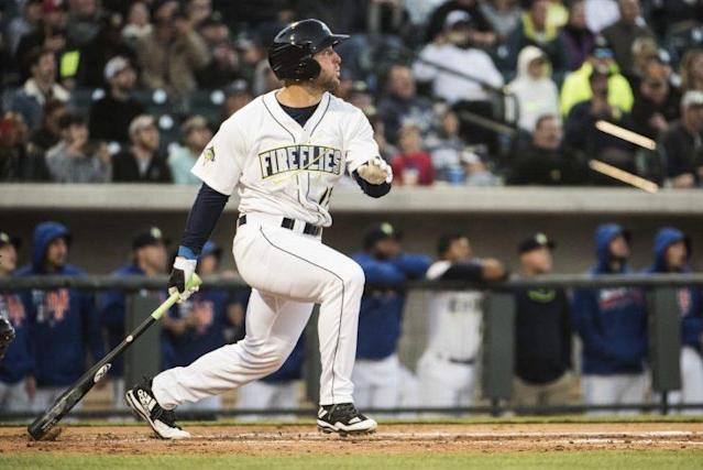 After spending time with the Columbia Fireflies, Tim Tebow homered in his second game with the St. Lucie Mets. (AP)