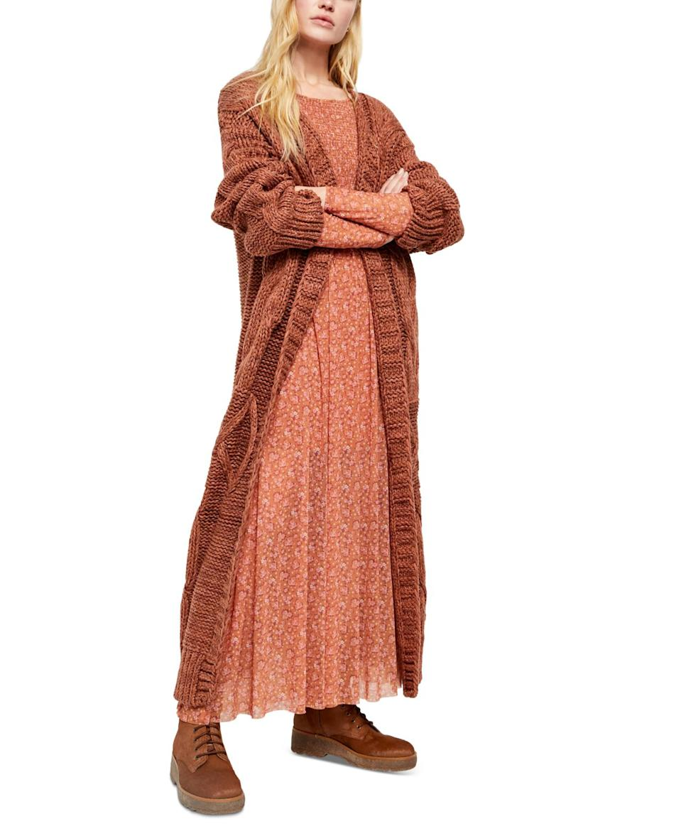 """<br><br><strong>Free People</strong> Keep In Touch Cardigan Sweater, $, available at <a href=""""https://www.macys.com/shop/product/free-people-keep-in-touch-cardigan-sweater?ID=10360872&CategoryID=80422#fn=BRAND%3DFree%20People"""" rel=""""nofollow noopener"""" target=""""_blank"""" data-ylk=""""slk:Macy's"""" class=""""link rapid-noclick-resp"""">Macy's</a>"""