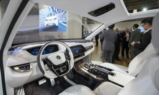 Auto industry shows off car cockpit of future at IAA